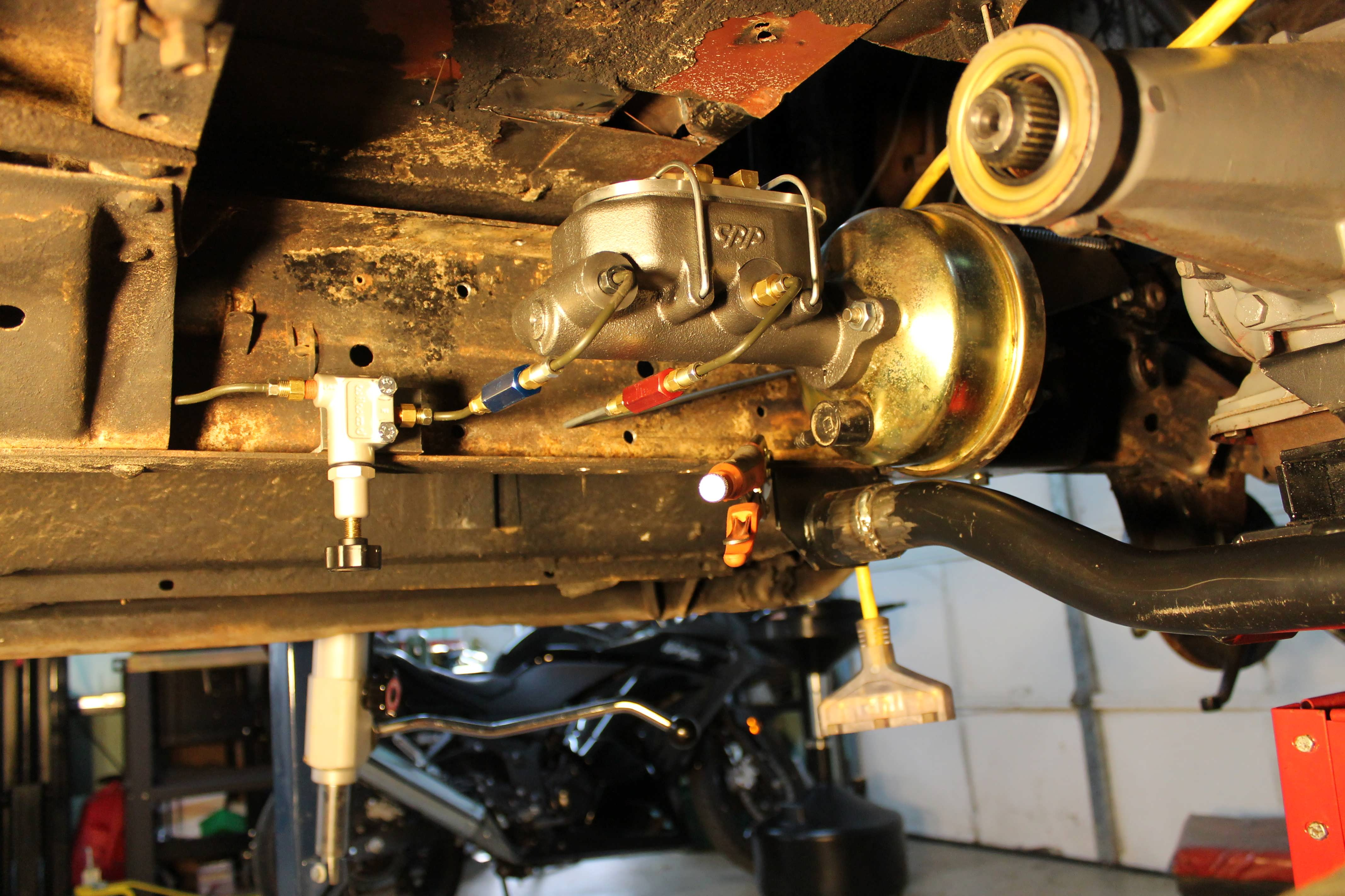 59 Chevy Apache Power Booster Master Cylinder